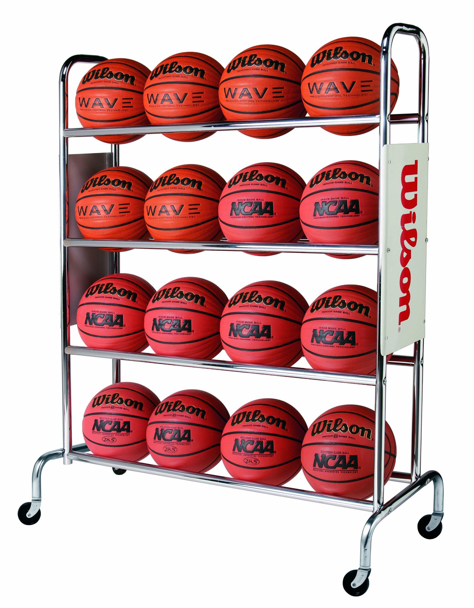 Wilson Deluxe Basketball Ball Rack by Wilson