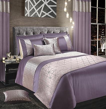 5ef2421562 Intimates Velvet Sparkle Bling Bedding Set Duvet Quilt Cover and Pillowcase  Set (Mauve