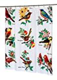 Carnation Home Fashions Audubon Fabric Shower Curtain