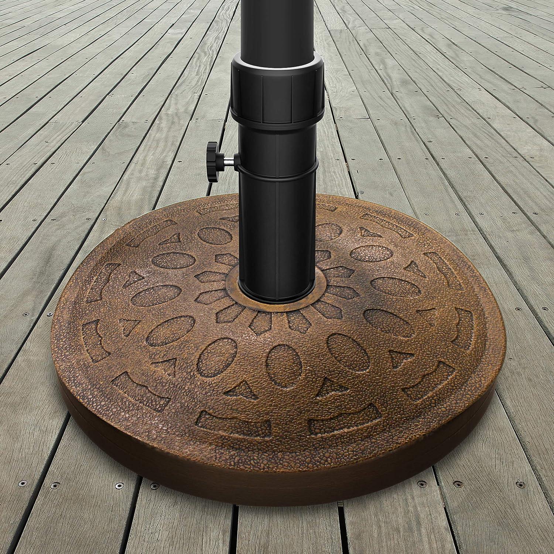 Pure Garden 50-LG1210 Patio Umbrella Base, Bronze