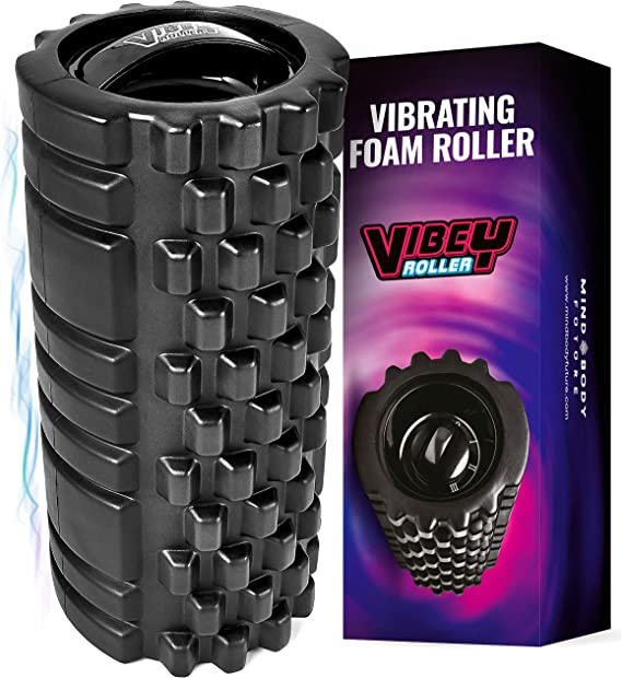 Mind Body Future Vibrating Foam Roller. High Intensity 3 Speed Firm Density