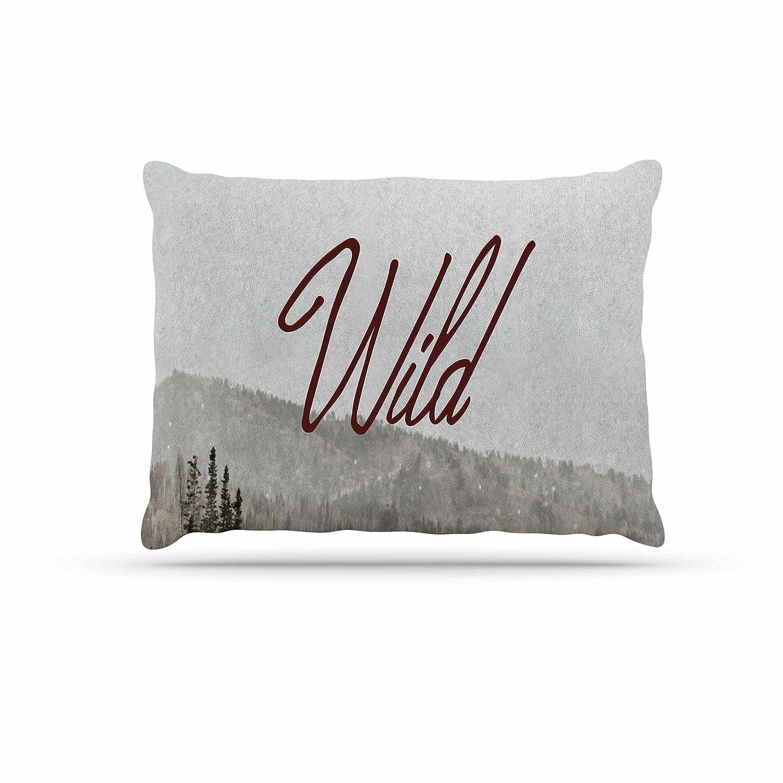 KESS InHouse Ann Barnes Jungle Abstract Green White Dog Bed, 50  x 40