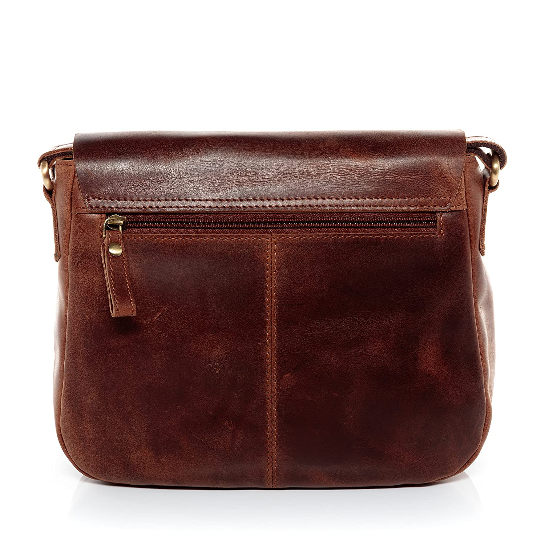 SID /& VAIN Real Leather Shoulder Bag /& Cross-Body Bag Yale Tote Bag Handbag top-Handle Bag Leather Bag Women/´s Bag Brown
