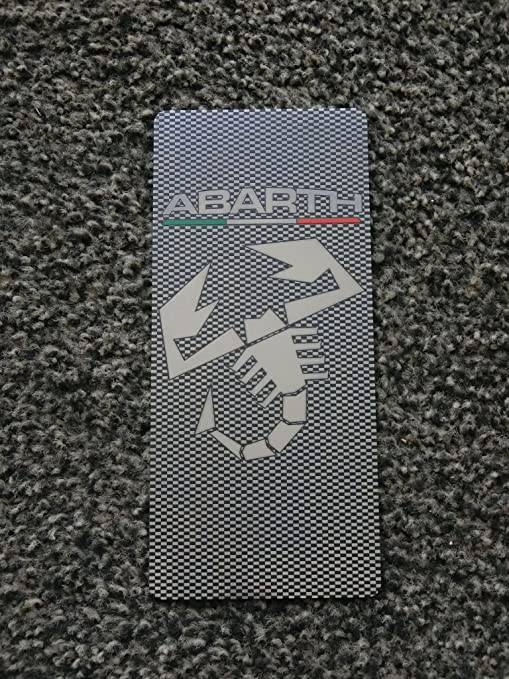 tuning pedana poggiapiede acciaio inox 18 x 8 cm con kit velcro incluso