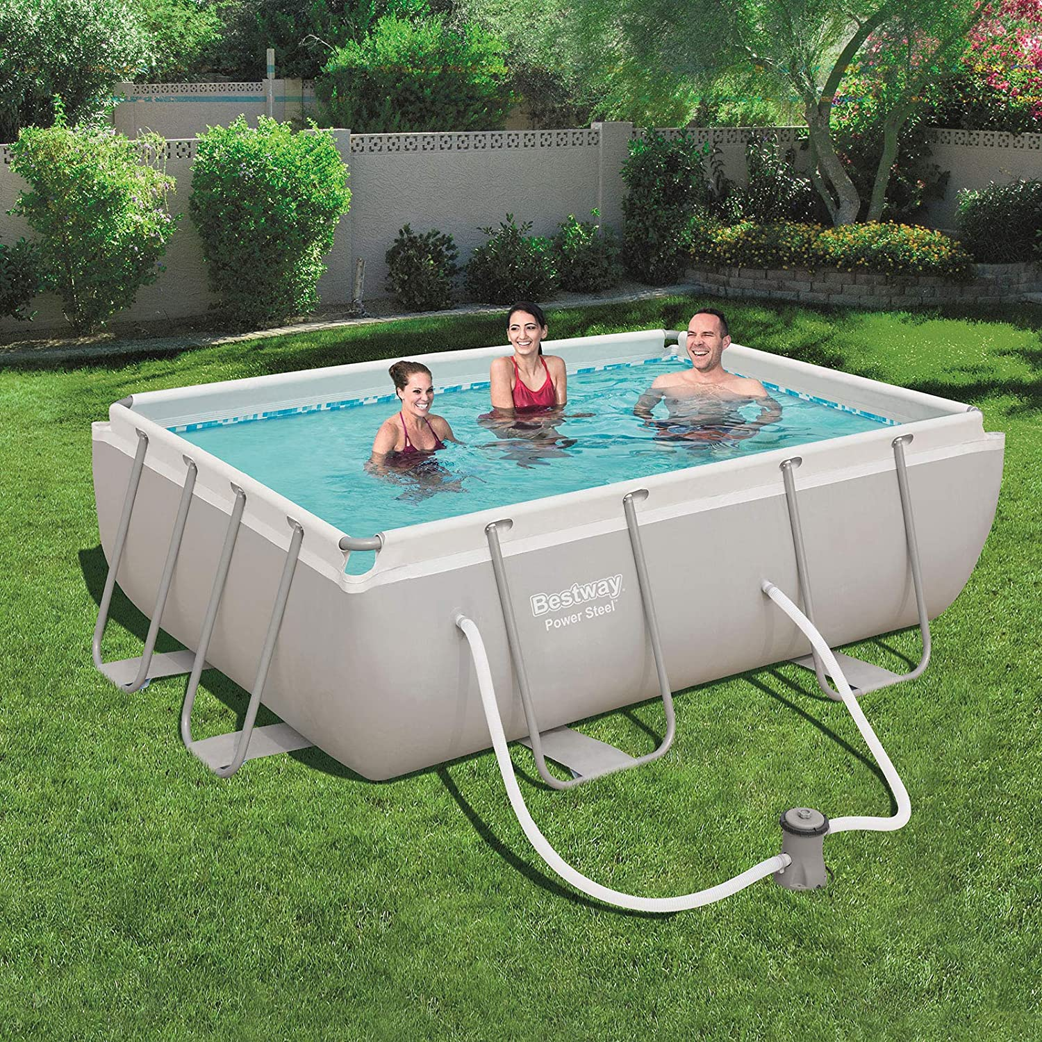 Bestway 56629 - Piscina Desmontable Tubular Power Steel 282x196x84 ...