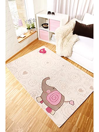 Sigikid Teppiche: Kinderzimmer Kinderteppich Happy Zoo Elephant ...