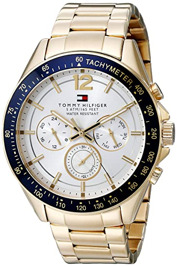 Tommy Hilfiger Mens 1791121 Sophisticated Sport Gold-Tone Stainless Steel Watch
