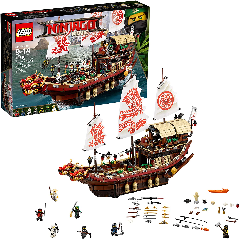 Amazon.com: LEGO NINJAGO Movie Destinys Bounty 70618 (2295 ...