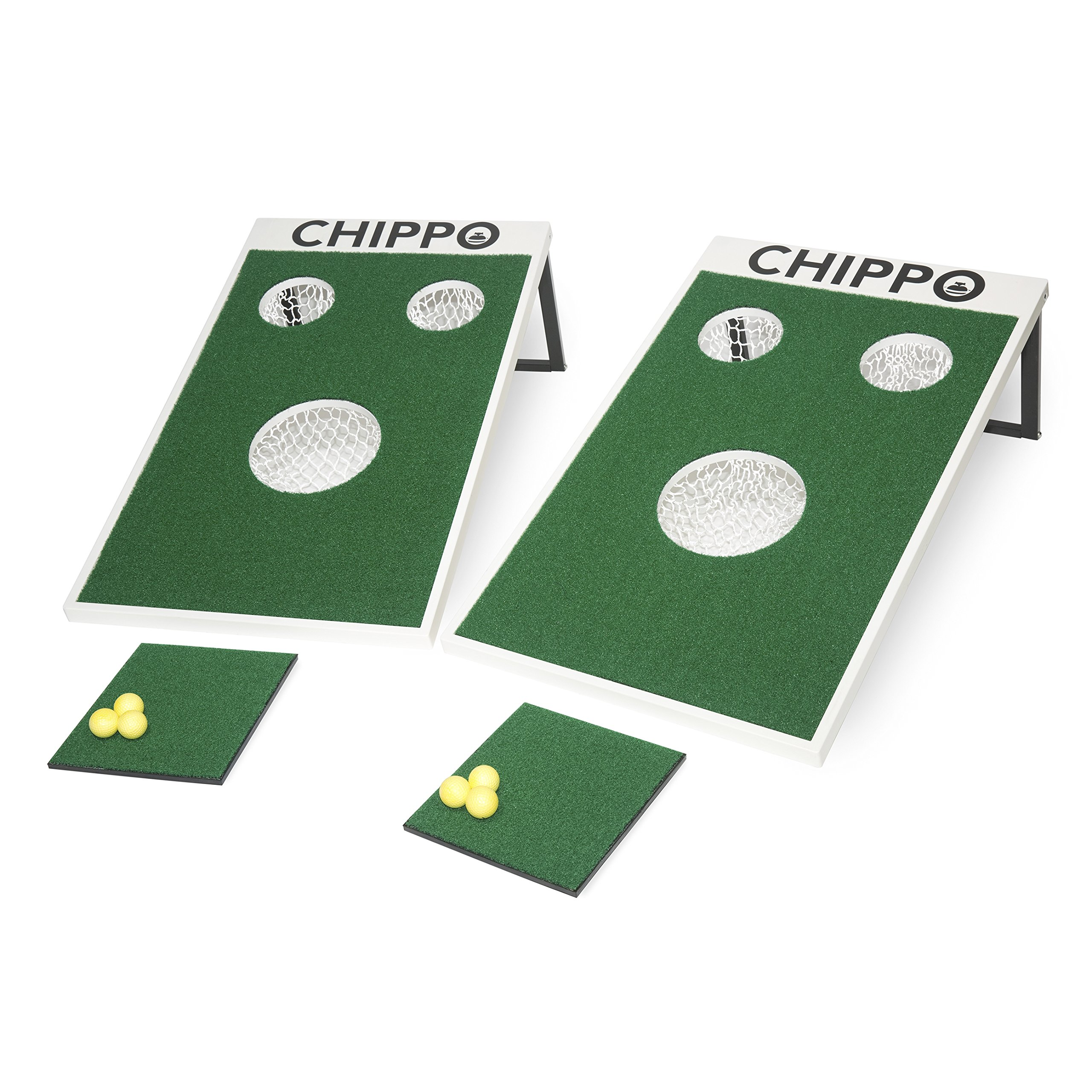CHIPPO - Golf meets cornhole! The revolutionary new golf game for the beach, backyard, tailgate, clubhouse, office and man cave! by Chippo