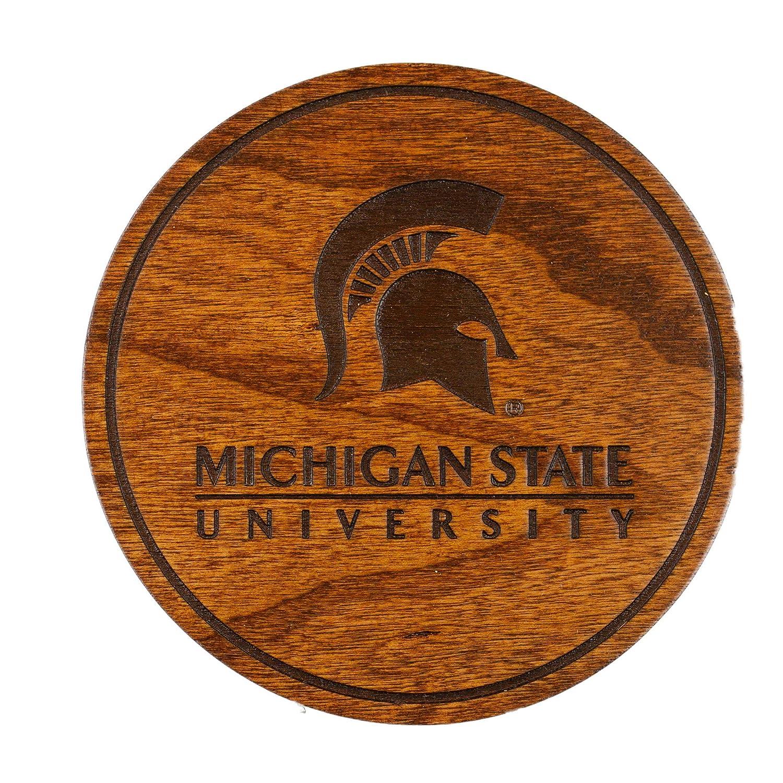 ミシガン州立大学 木製コースター バラエティパック   B07NW53FSG