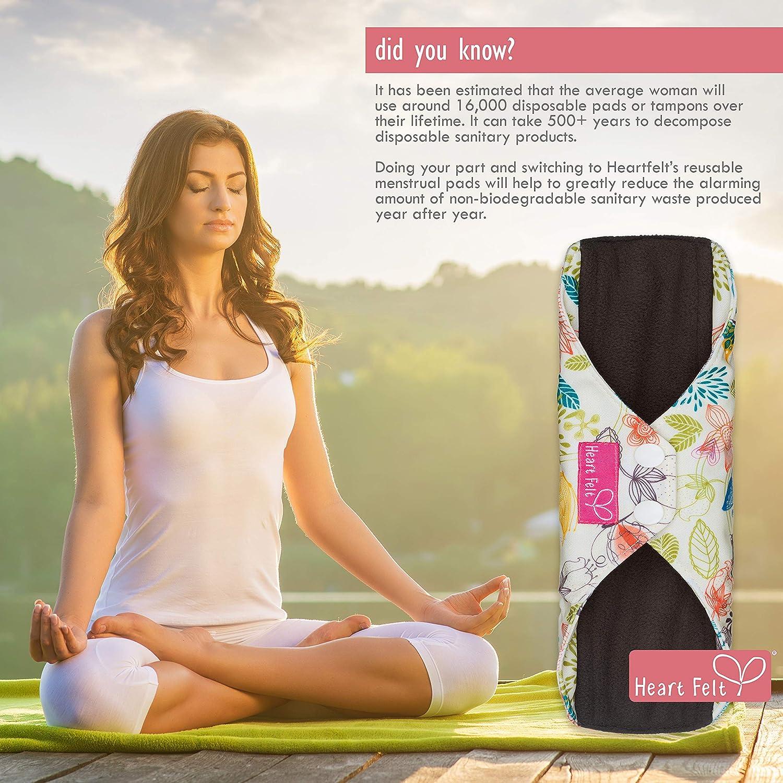 Cloth Pad Waste Free Period Eco Friendly Period Overnight Pad 10 Heavy Absorbency Cloth Menstrual Pad Heavy Period Pad