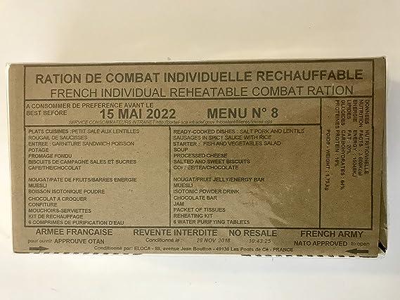 RICR Ration de combat Armée française 24h 3600kcal Rations militaire