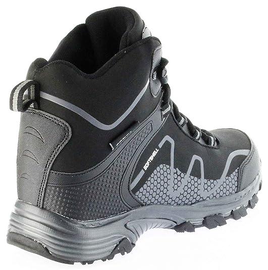 ConWay Outdoor Wanderschuhe Stiefel Schuhe Black Softshell