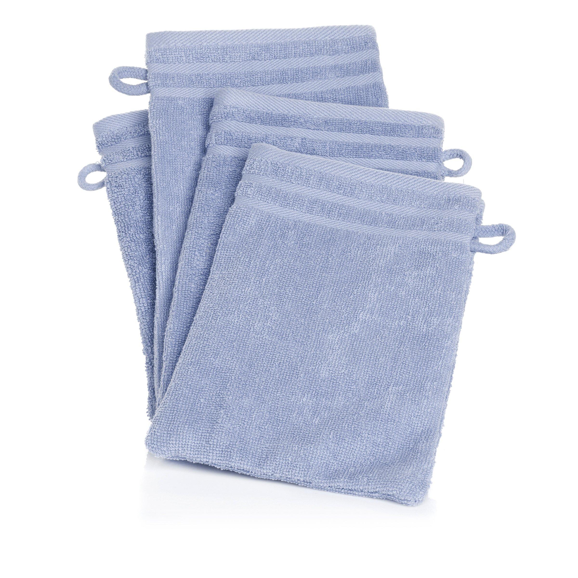 Joy Mangano Supreme Stretch S/4 Mitts SPA Blue Towel Sets, Wash Cloths