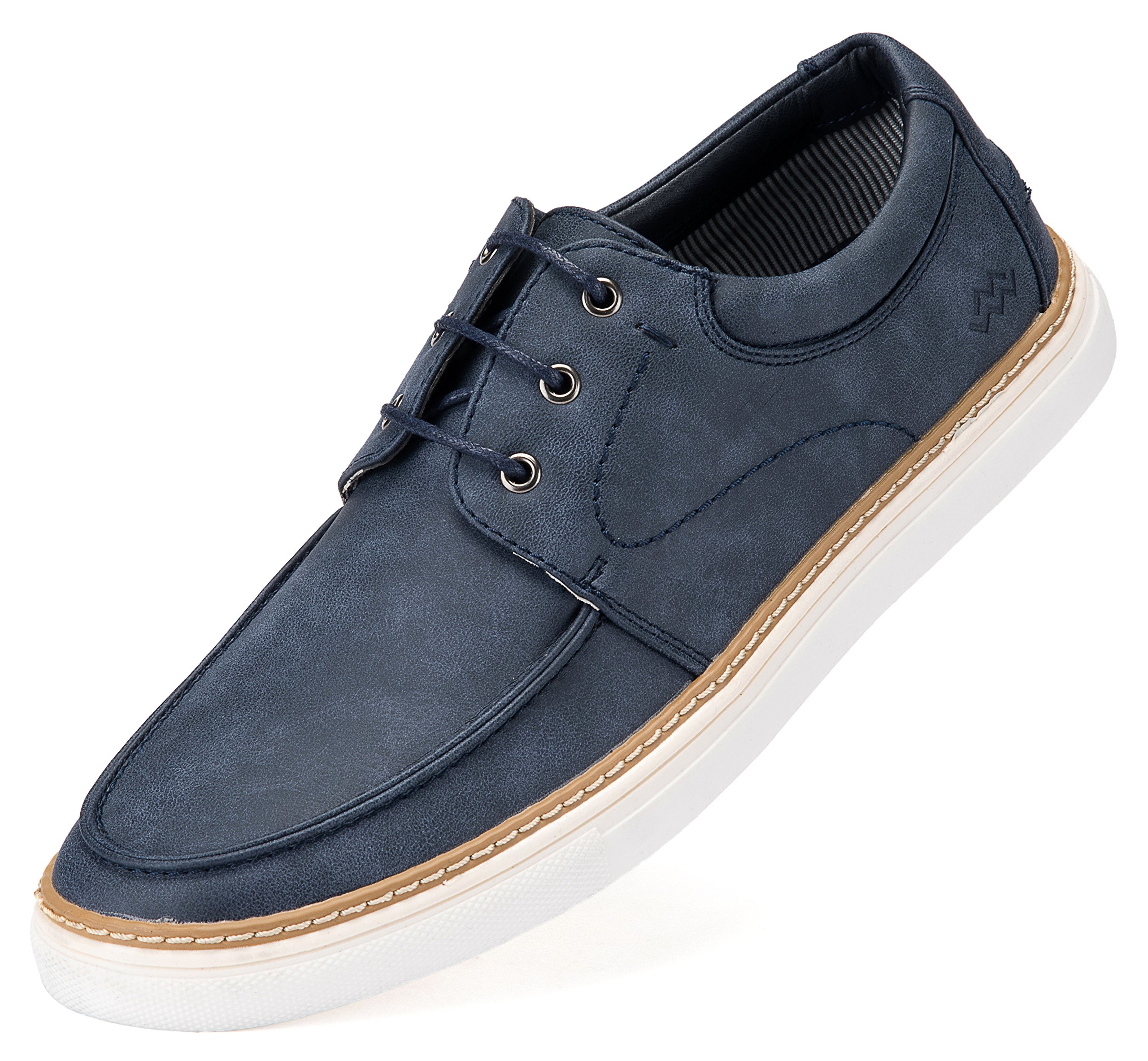 Mio Marino Casual Shoes for Men - Mens Dress Sneakers - Comfortable Fashion Sneakers - Royal Navy - US 12 | UK 11.5 | EU 45