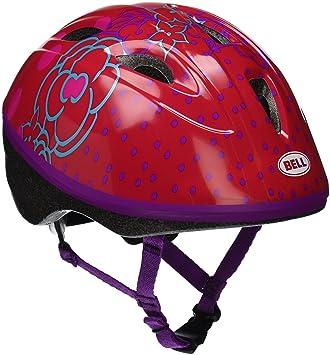 Bell Casco para bicicleta de niños construcción de vehículos, Red Jump House Flowers
