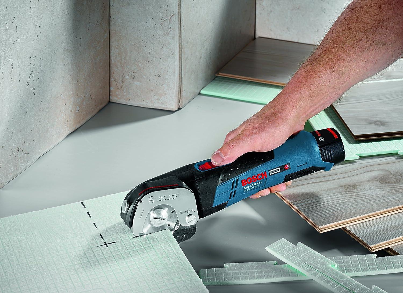 Bosch GUS 12-300 Professional - Cizalla a batería, 2 baterías de 12 V, 2 Ah, cargador rápido, sistema ECP, L-BOXX: Amazon.es: Bricolaje y herramientas