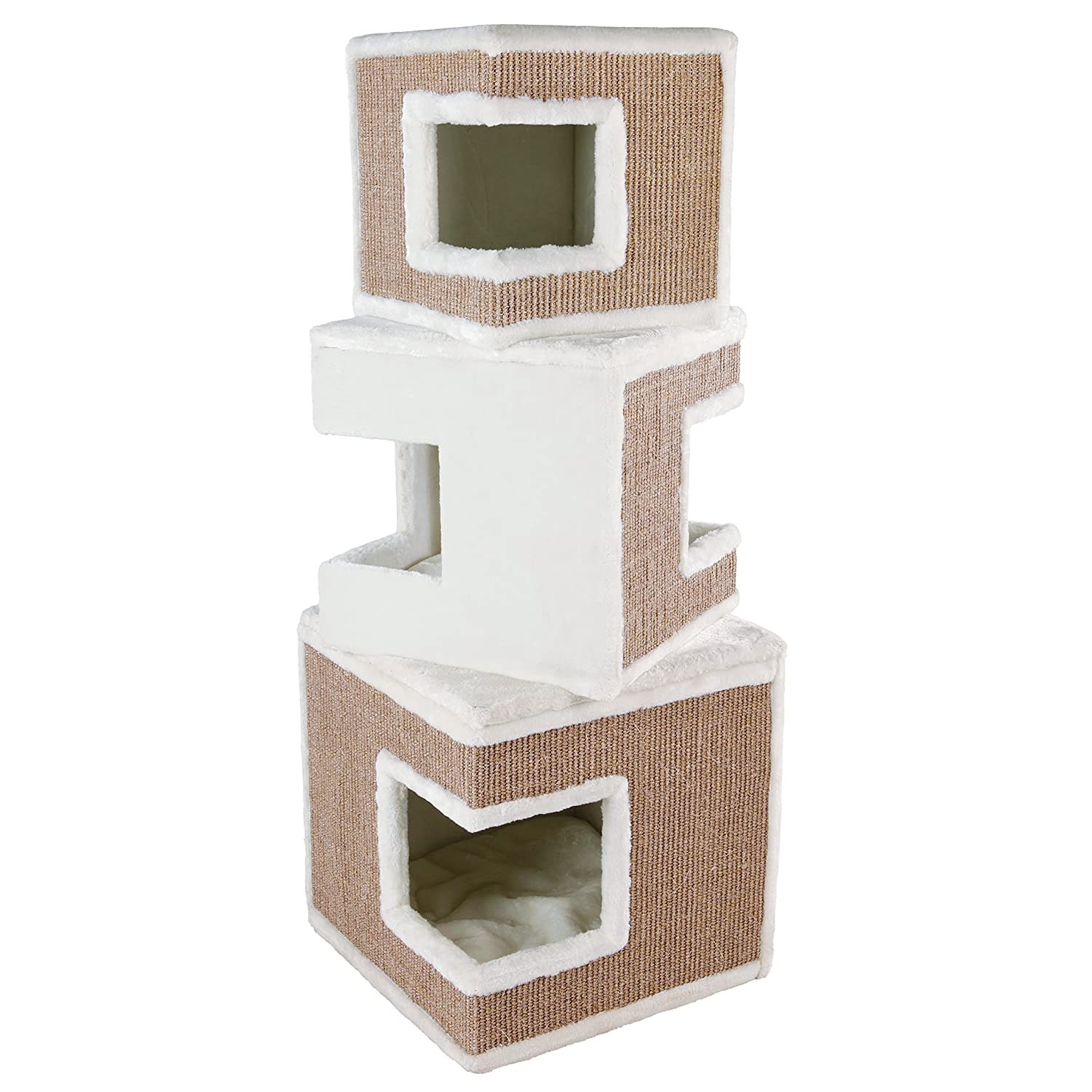 Creme   brown Trixie Pet Products 43377 Lilo Modular 3-Story Cat Tower