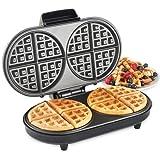 VonShef Dual Round Waffle Maker 1200W