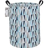 FANKANG Storage Basket, Nursery Hamper Canvas Laundry Basket Foldable with Waterproof PE Coating Large Storage Baskets for Ki