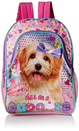 Amazon.com | Underrated Girls' Cute Kitten/Puppy Backpack, Pink ...