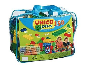 Unico Plus 8520 - Bolsa con bloques de construcción (150 piezas)
