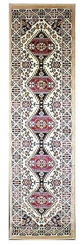 KILIM Boho Bohemian Beige Bokara Vintage Style K608 Area Rug Clearance Soft and Durable Pile. Size Option , 2 X7 HALLWAY RUNNER