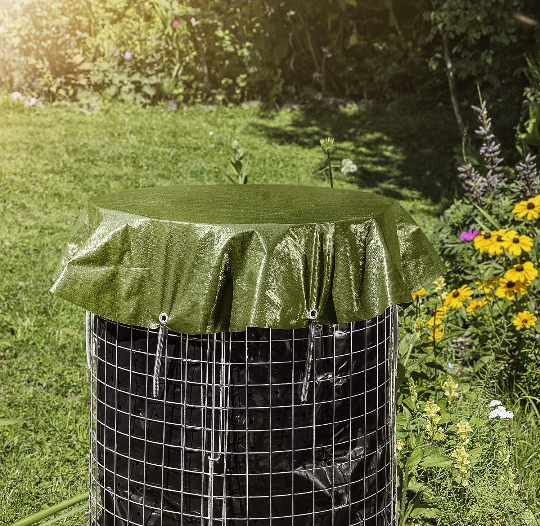 Windhager - Cubierta para compostador (200 g/m2, diámetro 1 ...
