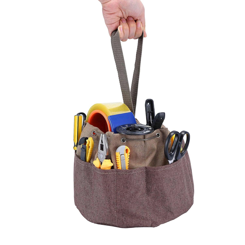 Robust Leicht Waschbar Handwerker Babimax Werkzeugtasche Gartenger/ätetasche mit Handgriff und meheren F/ächern Elektriker D24x H18cm f/ür Gartenarbeit