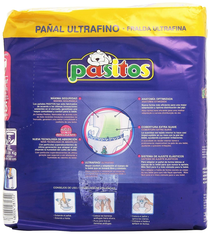 Pasitos - Pack semanal pañales bebés - Talla 5, 13-18 kg - 25 unidades - [pack de 6]: Amazon.es: Salud y cuidado personal