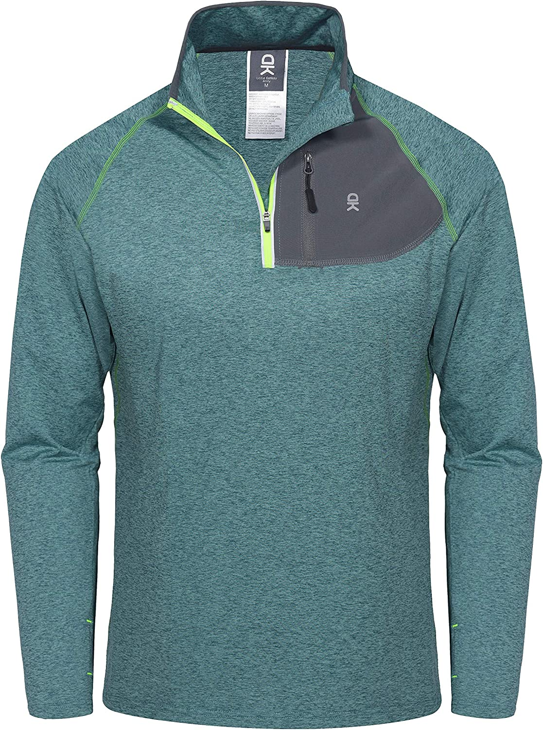 Little Donkey Andy Men's Long Sleeve Quick Dry Lightweight Running Exercise Sports T-Shirt Top