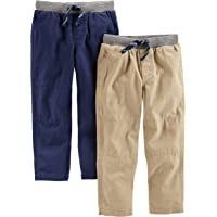 Simple Joys by Carter's Bebé Niños pantalón de algodón, Pack de 2