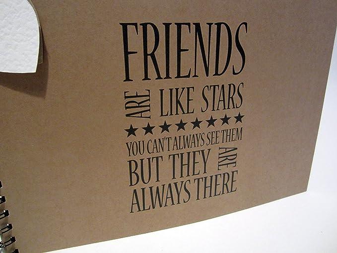 Card Pages Memories A5 A4 Scrapbook Friendship Stars Photo Album Keepsake