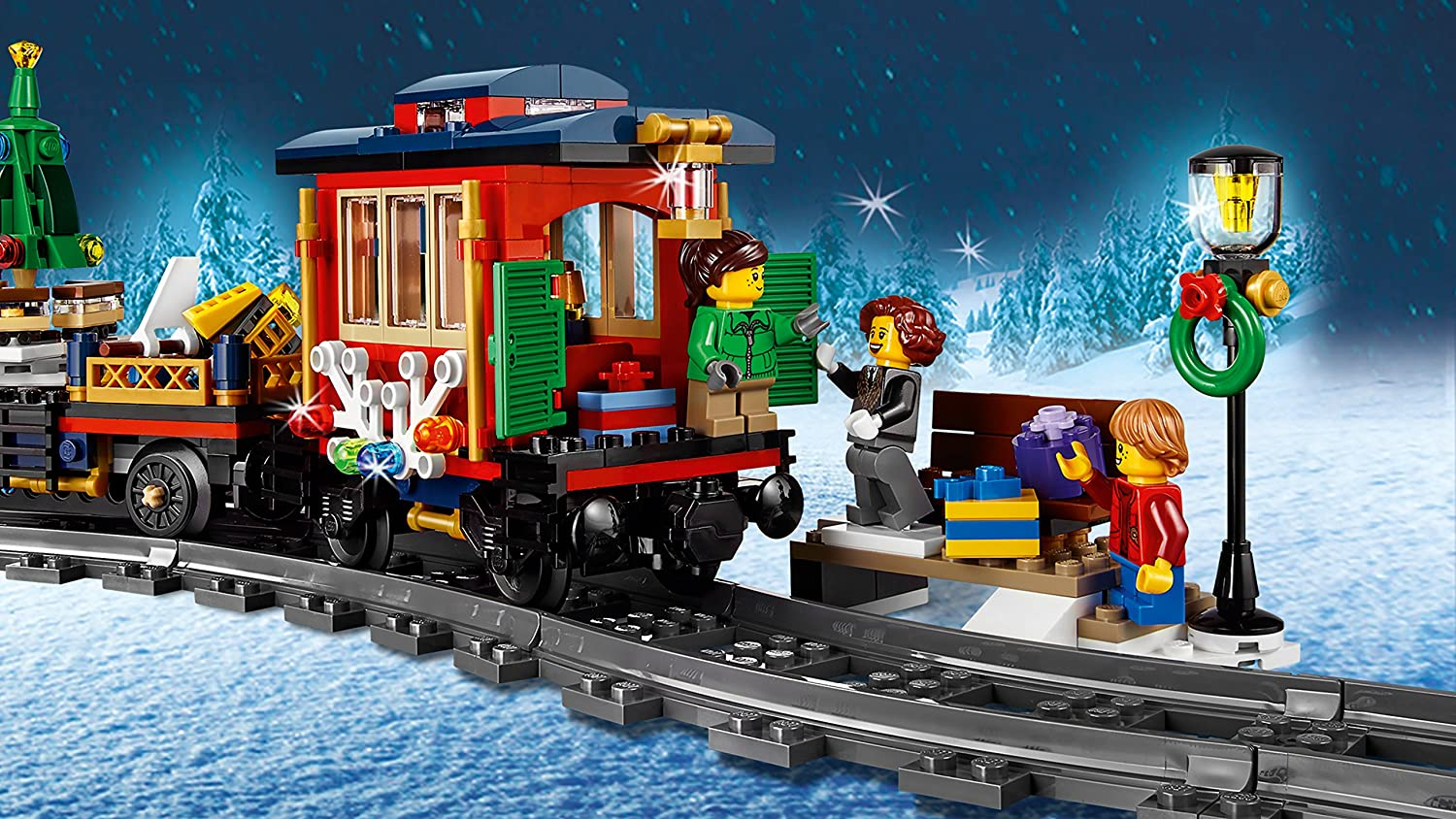The Tracks That Go With The Lego 2017 Winter Holiday Train Measure More  Than 27 Centimeters When They Are Mounted.