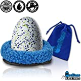 "Black & White Label Company Nest For Hatchimals Accessories - EggHead Bed Nesting 6.5"" Fleece Egg Accessory Holder - For Use With All Hatchimals Eggs CollEGGtibles - Blue"