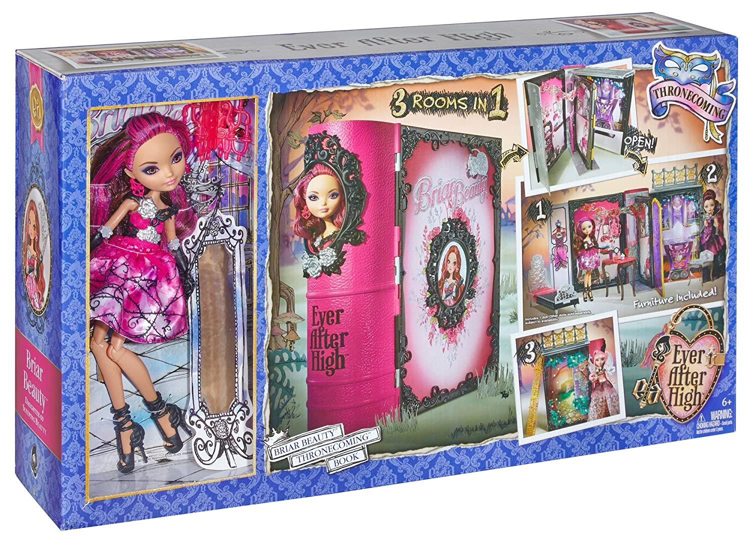Fabulous Ever After High Thronecoming Briar Beauty Doll And Furniture Set Discontinued By Manufacturer Machost Co Dining Chair Design Ideas Machostcouk
