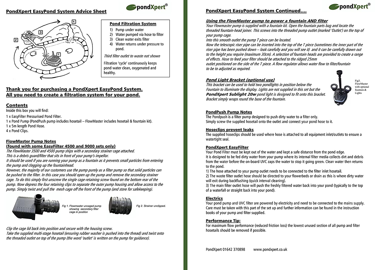 PondXpert EasyPond  Pond Filtration System Includes Pump - Amazon pond pumps