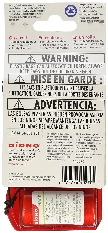 Amazon.com: Bag It bolsa de basura portátil, Rojo: Baby