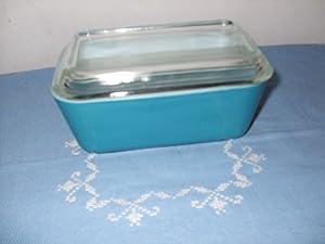 Pyrex Vintage Refrigerator Dish 502 Blue