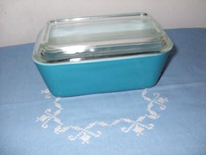 Amazoncom Pyrex Vintage Refrigerator Dish 502 Blue Baking