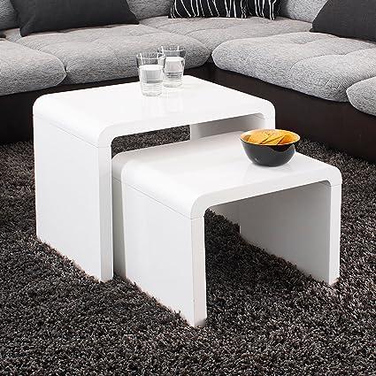 Cerco Tavolino Da Salotto Usato.Prilog Gubici Fino Tavolino Da Salotto Laccato Bianco Amazon Workout4wishes Org