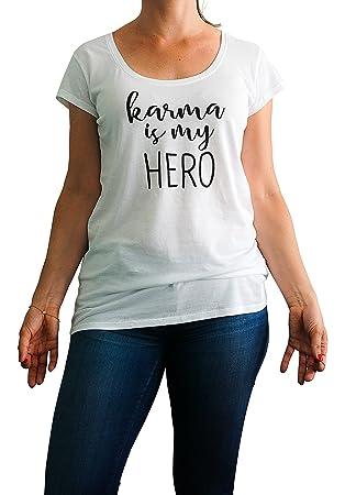 IckeMe Yoga Day Basic - Camiseta de Mujer con Texto Karma ...