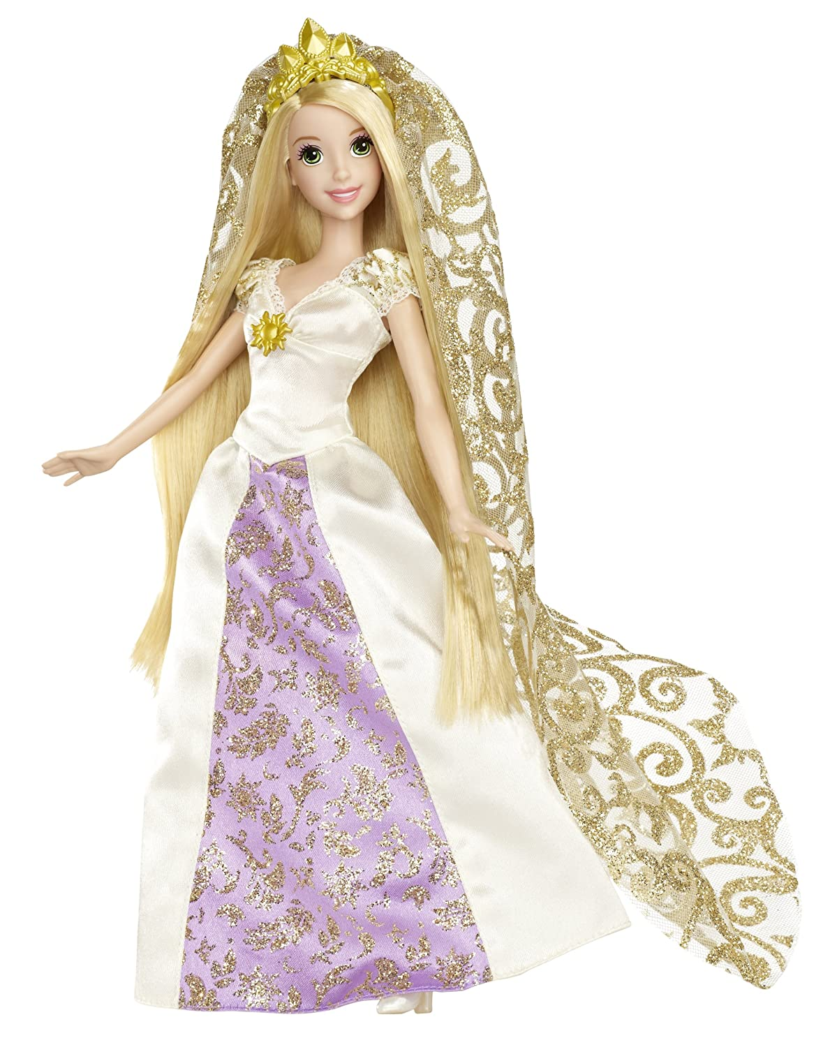 Amazon.com: Disney Princess Rapunzel Bridal Doll: Toys & Games