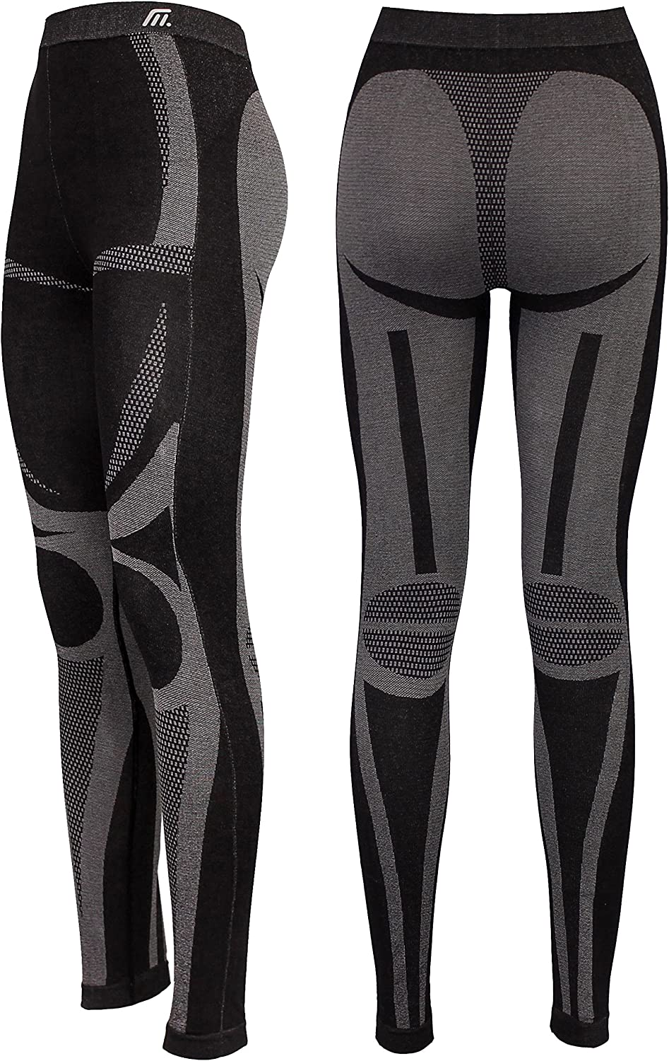 Motorcycling Thermals Highly-Elastic Medico Womens Seamless Set of Professional Functional Underwear for Skiing