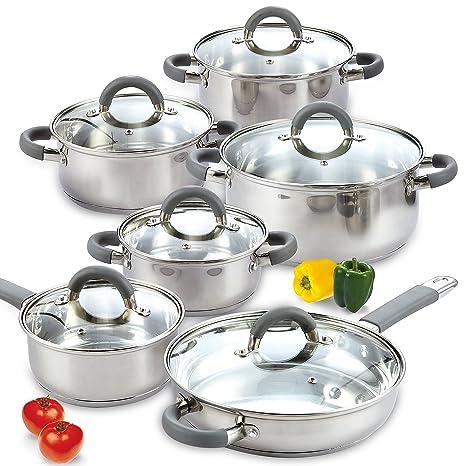 Amazon.com: Juego de cocina de 12 piezas, de la marca Cook N ...