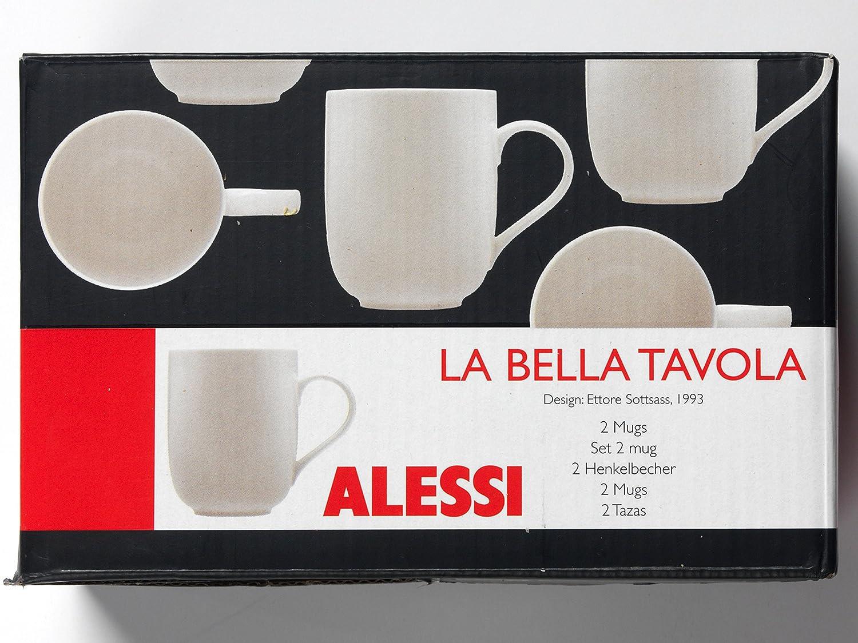 Alessi 1110306 La Bella Tavola - Juego de Tazas de Porcelana (2 Unidades): Amazon.es: Hogar