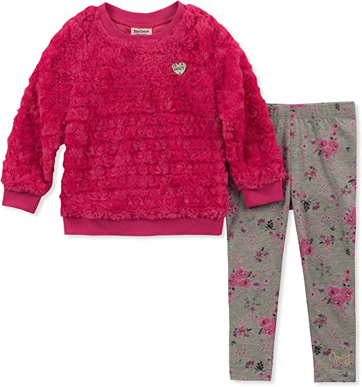 NEW Baby Girls 2 Piece Set Size 12 Months Top Shirt Shorts Outfit Tunic Pink