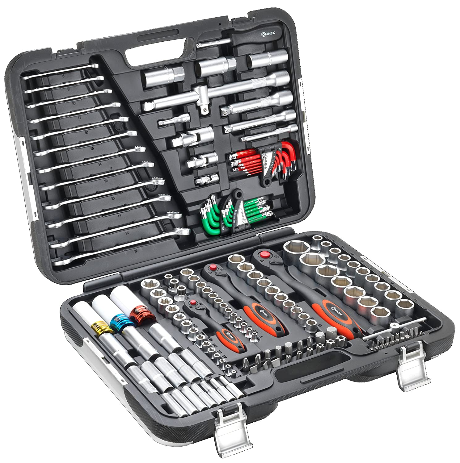 CONNEX COXBOH600160 Premium Tool Case/Socket Set for Motor Vehicles (160-Piece) Conmetall GmbH uk home improvement COZTG