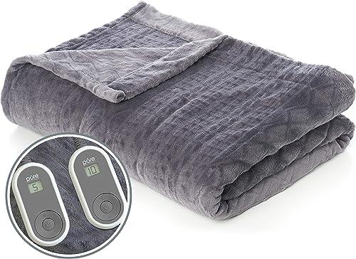 Pure Enrichment PureRelief Radiance Deluxe Heated Blanket