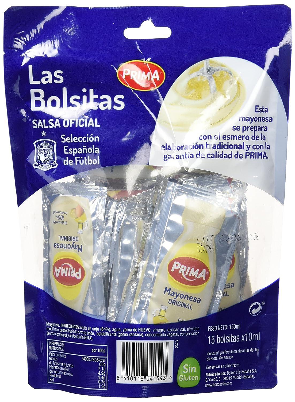 Prima Mayonesa en Sobres Monodosis - Pack de 15 x 10 g - Total: 150 g: Amazon.es: Amazon Pantry